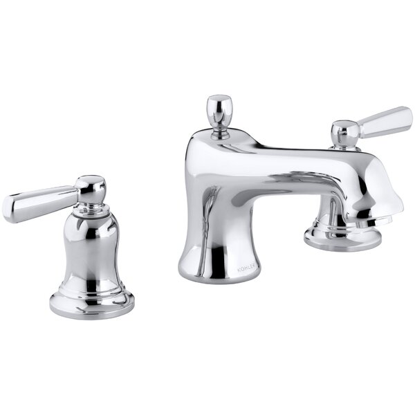 Bancroft Bath Faucet Trim for Deck-Mount High-Flow Valve with Non-Diverter Spout and Metal Lever Handles, Valve Not Included by Kohler
