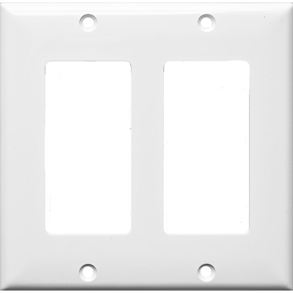 2 Gang Decorator / GFCI Lexan Wall Plates in White by Morris Products