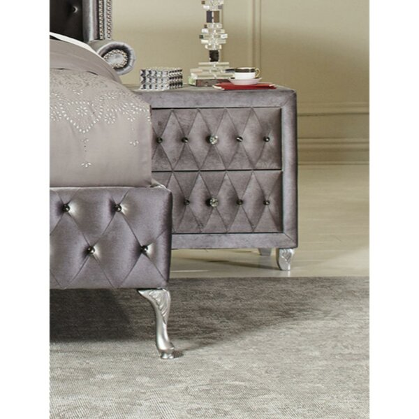 Darley 2 Drawers Nightstand by House of Hampton
