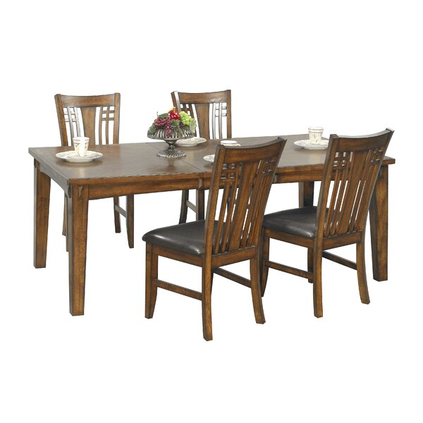 Schueller 5 Piece Extendable Solid Wood Dining Set by Darby Home Co Darby Home Co