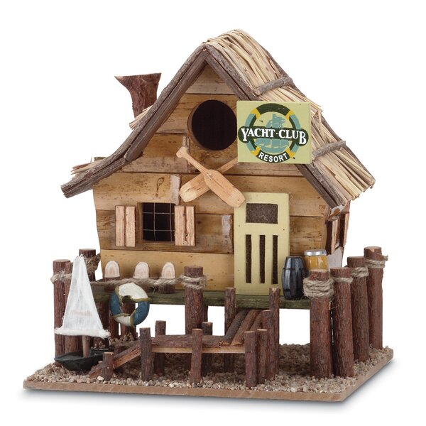 Waterfront Resort 10 in x 8 in x 9 in Birdhouse by