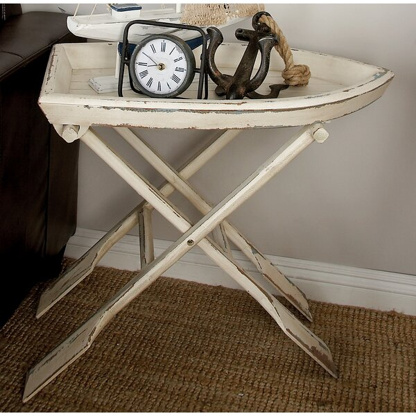 Sheffield Wood Tray Table by Breakwater Bay
