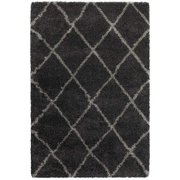 Sayer Charcoal/Gray Area Rug by Wrought Studio