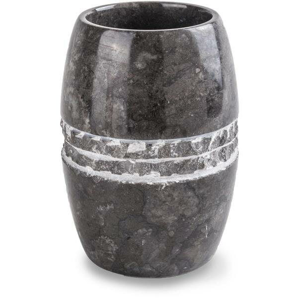 Adams Round Marble Toothbrush Holder by Bloomsbury Market