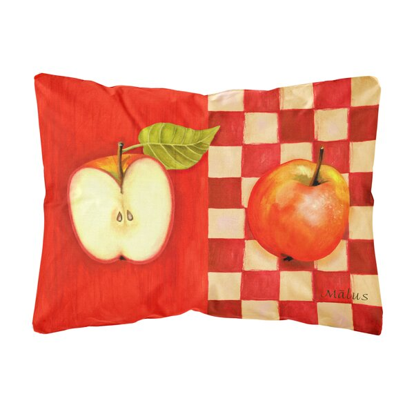 Ruddy Apple by Ute Nuhn Fabric Indoor/Outdoor Throw Pillow by Winston Porter