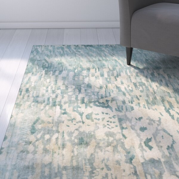 Eridani Light Gray/Blue Area Rug by Latitude Run