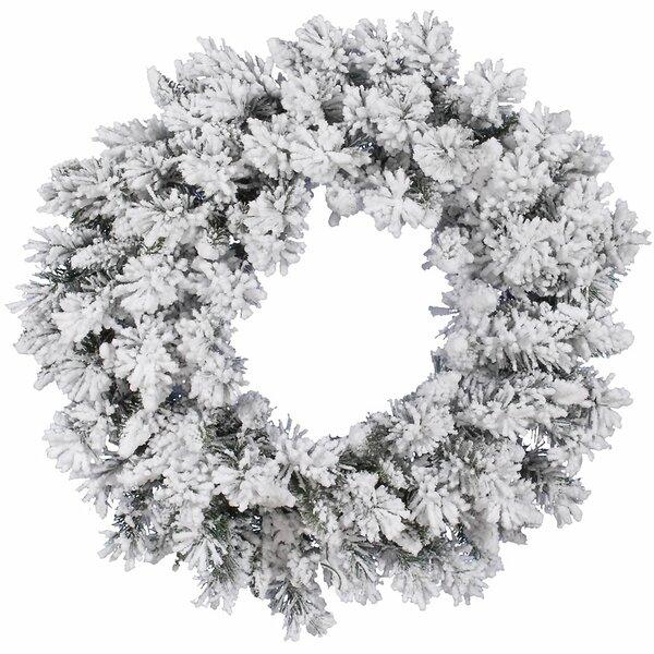 Flocked Snow Ridge Wreath with 160 Tips by Vickerman