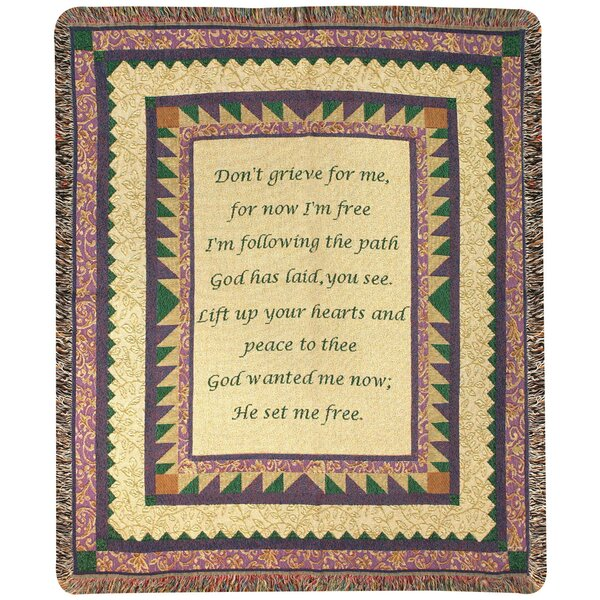 Grandmother Tapestry Cotton Throw by Manual Woodworkers & Weavers