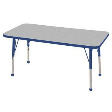 Thermo-Fused Adjustable 24 x 48 Rectangular Activity Table by ECR4kids