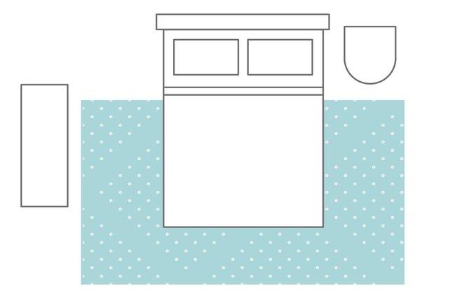 2/3 Bed On The Rug | Bedroom Rug Layouts | Wayfairu0027s Ideas U0026 Advice