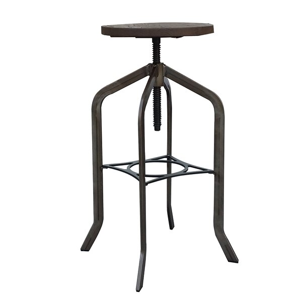 Mcatee Adjustable Height Swivel Bar Stool (Set of 2) by Williston Forge