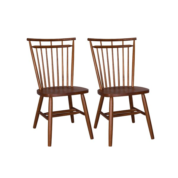 Marni Spindle Back Solid Wood Dining Chair (Set of 2) by August Grove