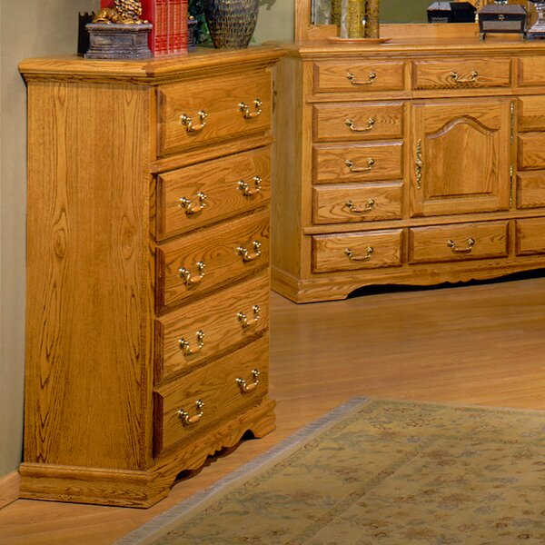 Country Heirloom 5 Drawer Chest by Bebe Furniture