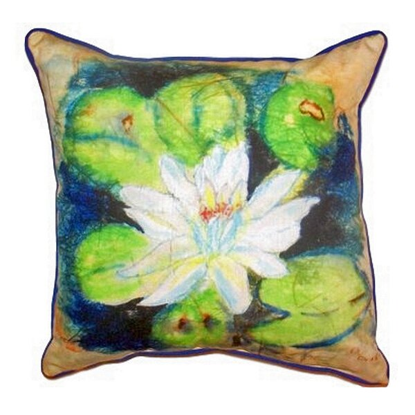 Water Lily Outdoor Throw Pillow by Betsy Drake Interiors