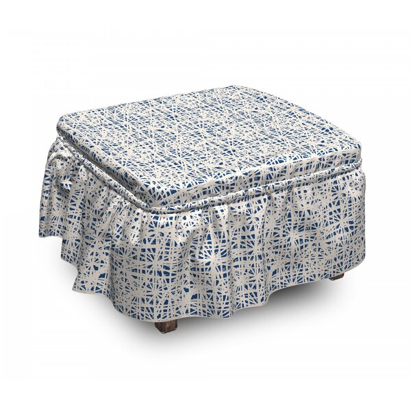 Hippie Grid Ottoman Slipcover (Set Of 2) By East Urban Home