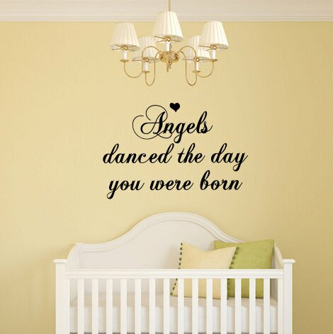 Yoselin Angels Danced The Day You Were Born Wall Decal by Zoomie Kids