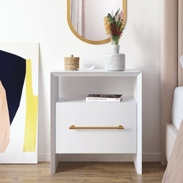 Cho 1 Drawer Nightstand by Everly Quinn