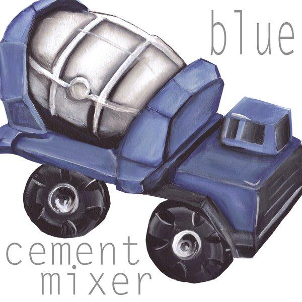 Cement Mixer Paper Print by Doodlefish