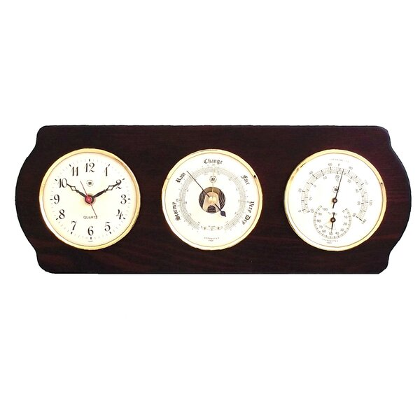 Wall Clock with Barometer, Thermo and Hygrometer by Bey-Berk