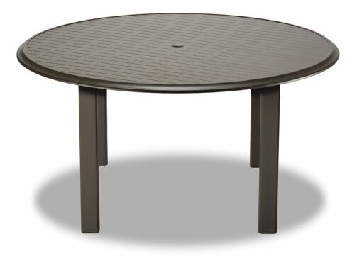 Aluminum Slat 56 Round Dining Table by Telescope Casual