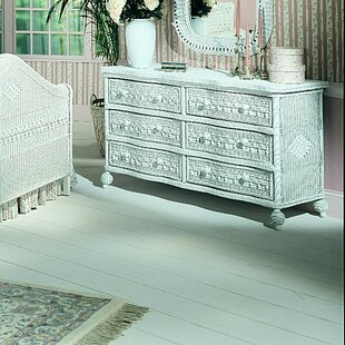 Stonge Classic 6 Drawer Double Dresser with Mirror by August Grove