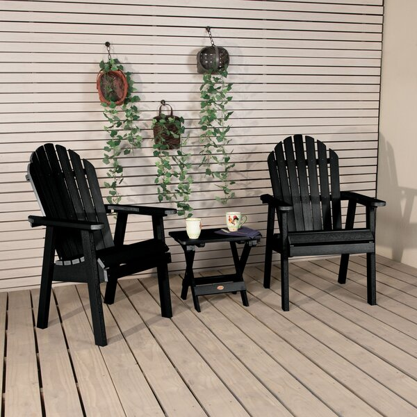 Deerpark Plastic/Resin Adirondack Chair with Table by Longshore Tides Longshore Tides