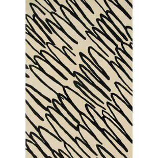 Check Prices Mazon Hand-Tufted Beige/Black Area Rug ByIvy Bronx