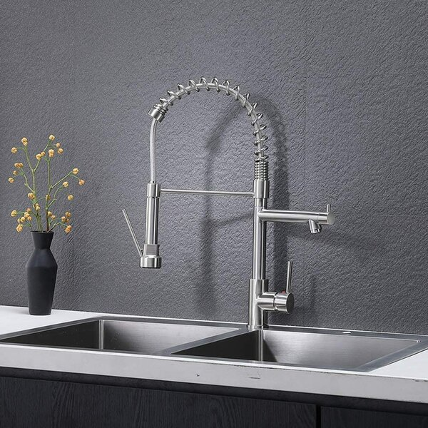 Pull Down Single Handle Kitchen Faucet By Friho