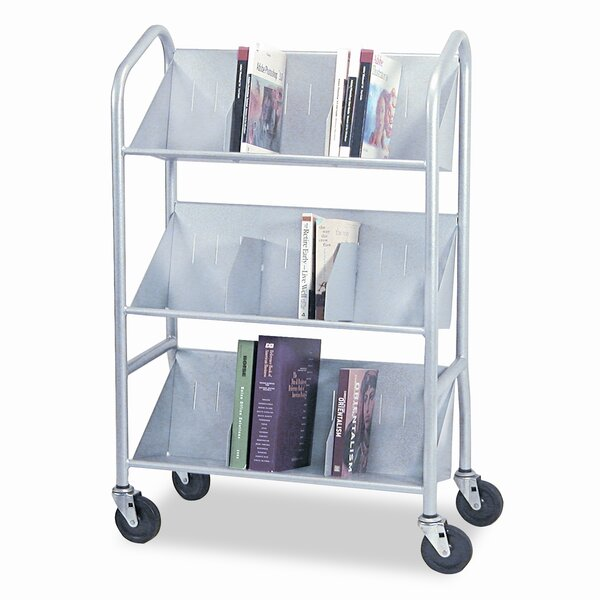 Sloped-Shelf Book Cart by Buddy Products