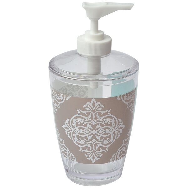 Faience Printed Bathroom Soap & Lotion Dispenser by Evideco