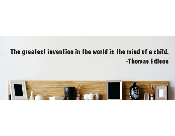 The Greatest Invention - Thomas Edison Wall Decal by Design With Vinyl