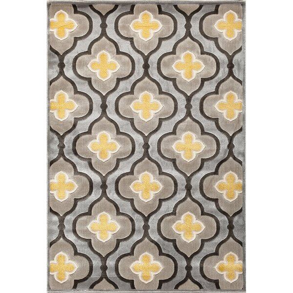 Suffolk Silver/Charcoal Area Rug by Threadbind