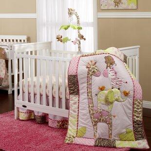 Jungle 4 Piece Crib Bedding Set