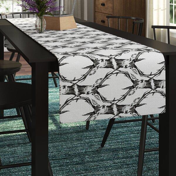DLKG Design Deer Deer Table Runner by East Urban Home
