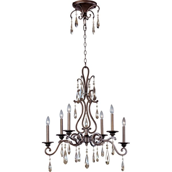 Ummi 6 - Light Candle Style Tiered Chandelier By Astoria Grand