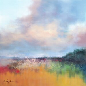 Painted Fields by K. Lapira Painting Print on Wrapped Canvas by Portfolio Canvas Decor