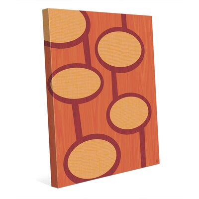 Retro Alien Pods Orange Graphic Art On Wrapped Canvas Click Wall Art Size 10 H X 8 W X 0 75 D Shefinds
