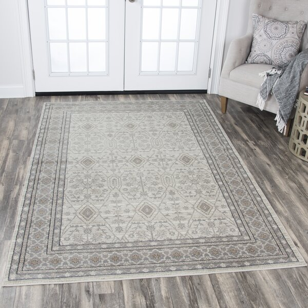 Moraine Beige Area Rug by Charlton Home