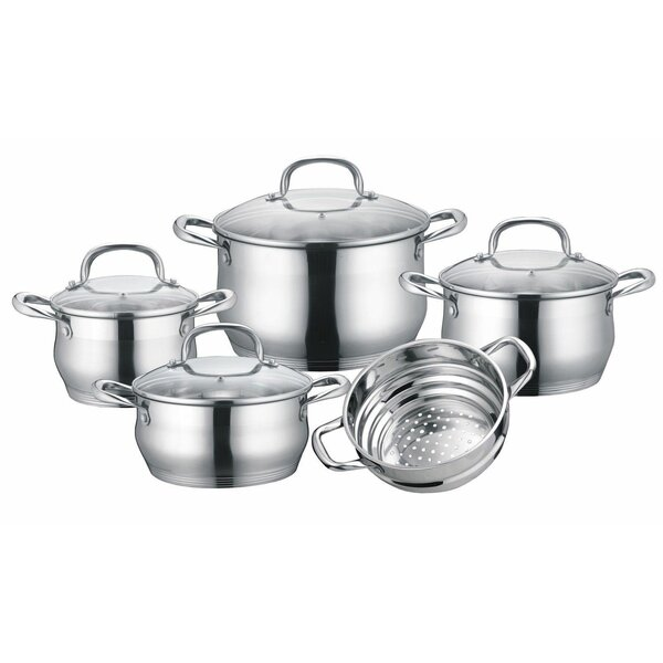 Stainless Steel 9 Piece Cookware Set by Concord Cookware