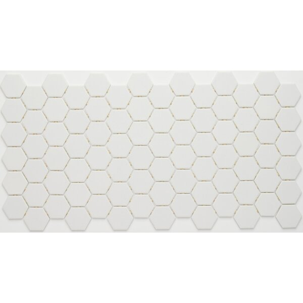 Dalton 12 x 24 Porcelain Mosaic Tile in Arctic White by Itona Tile