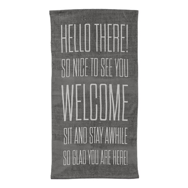 Melson Hello There… Cotton Gray Area Rug by Wrought Studio