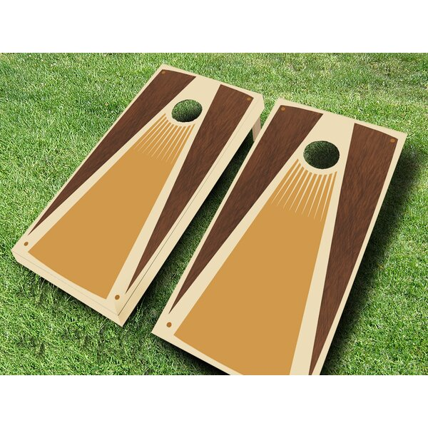 Retro Stained Tensil Cornhole Set by AJJ Cornhole