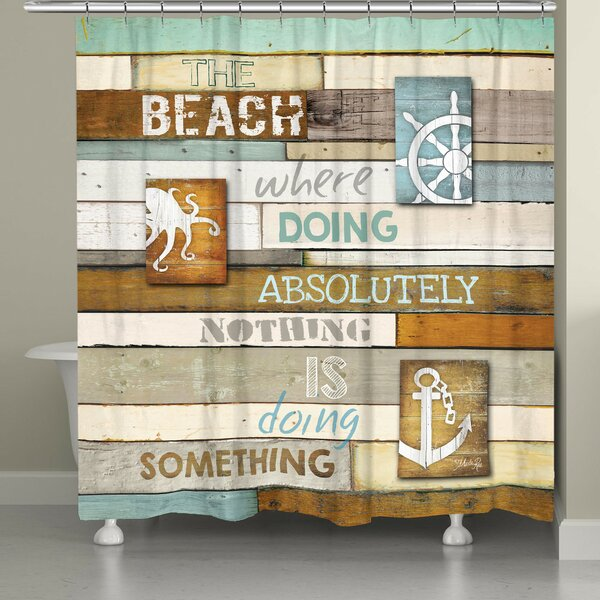 Alton Beach Mantra Shower Curtain by Rosecliff Heights