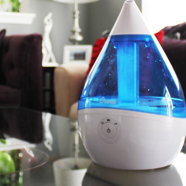 0.5 Gal. Cool Mist Ultrasonic Tabletop Humidifier by Crane USA