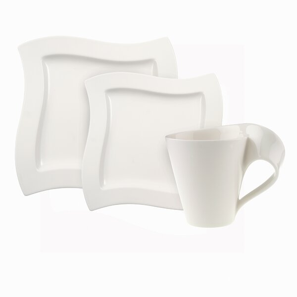 New Wave 12 Piece Dinnerware Set, Service for 4 by Villeroy & Boch