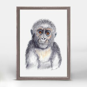 Gorilla Portrait by Brett Blumenthal Mini Canvas Framed Art by Oopsy Daisy