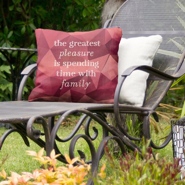 Love and Family Indoor/Outdoor Throw Pillow
