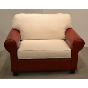 Leather and Fabric Chair and a Half by Carolina Classic Furniture