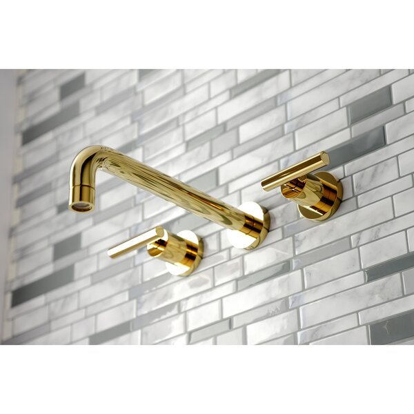 Manhattan Double Handle Wall Mounted Tub Spout By Kingston Brass