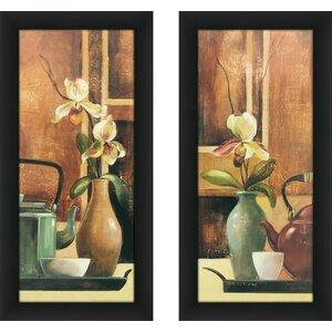 'Green Tea I' 2 Piece Framed Print Set by Alcott Hill